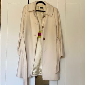 J.Crew cream wool coat size 6